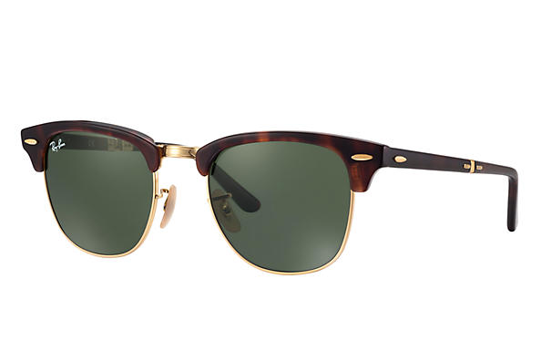 a2394a6bcc Ray-Ban Clubmaster Folding RB2176 Black - Acetate - Green Lenses -  0RB217690151
