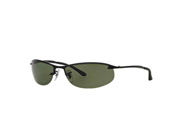ef612514286 Ray-Ban RB3519 Black - Metal - Green Polarized Lenses - 0RB3519006 ...
