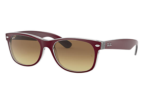 Ray-Ban NEW WAYFARER COLOR MIX Bordeaux avec verres Marron Dégradé
