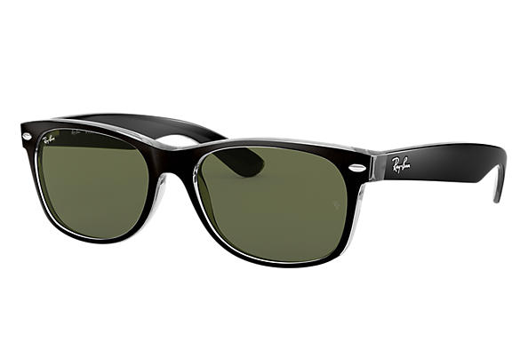 ff356d44e1 Ray-Ban New Wayfarer Color Mix RB2132 Negro - Nylon - Lentes Verde ...