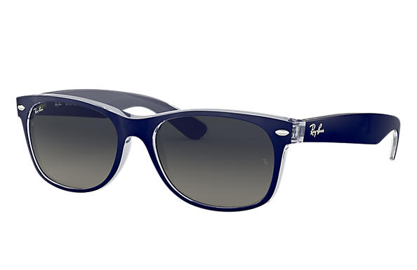 53c4ed841b Ray-Ban New Wayfarer Color Mix RB2132 Blue - Nylon - Grey Lenses ...