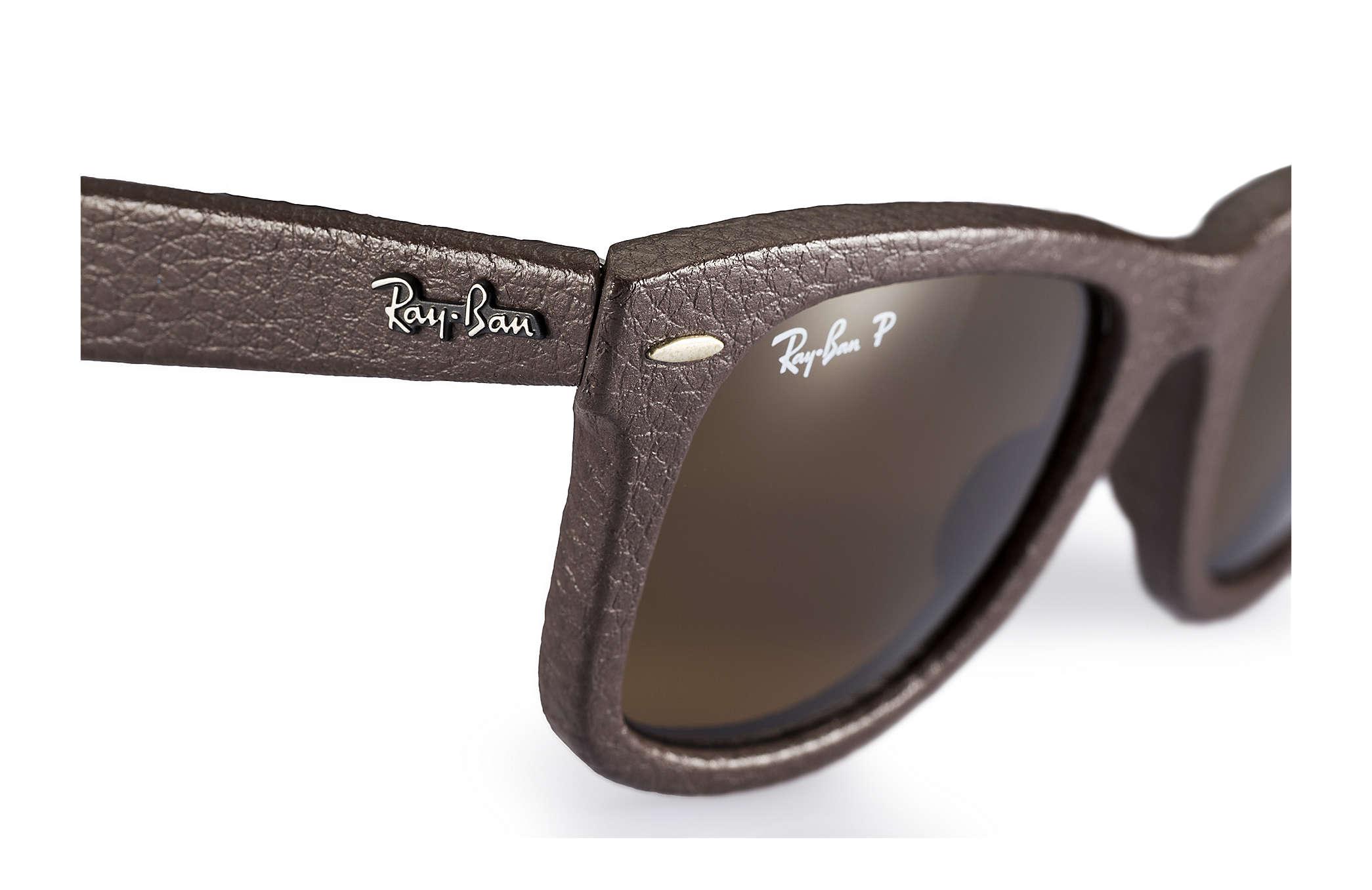 ray ban aviator leather sunglasses