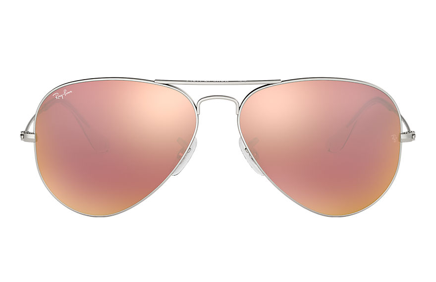 Ray-Ban  sonnenbrillen RB3025 UNISEX 040 aviator flash lenses silber 8053672158656
