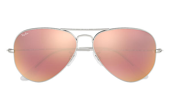 ray ban 3025 aviator sunglasses mirror pink gold