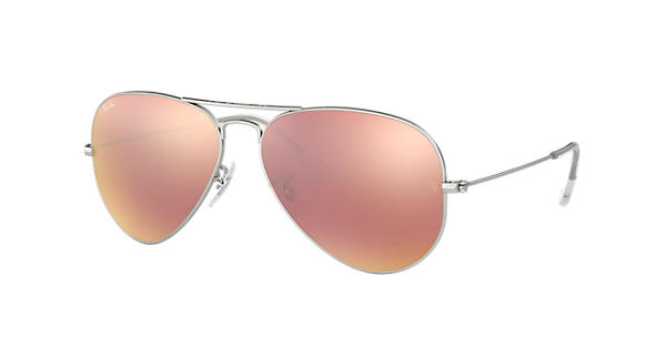 Ray-Ban Aviator Flash Lenses RB3025 Silver - Metal - Copper Lenses -  0RB3025019 Z258   Ray-Ban® USA c629c492068a