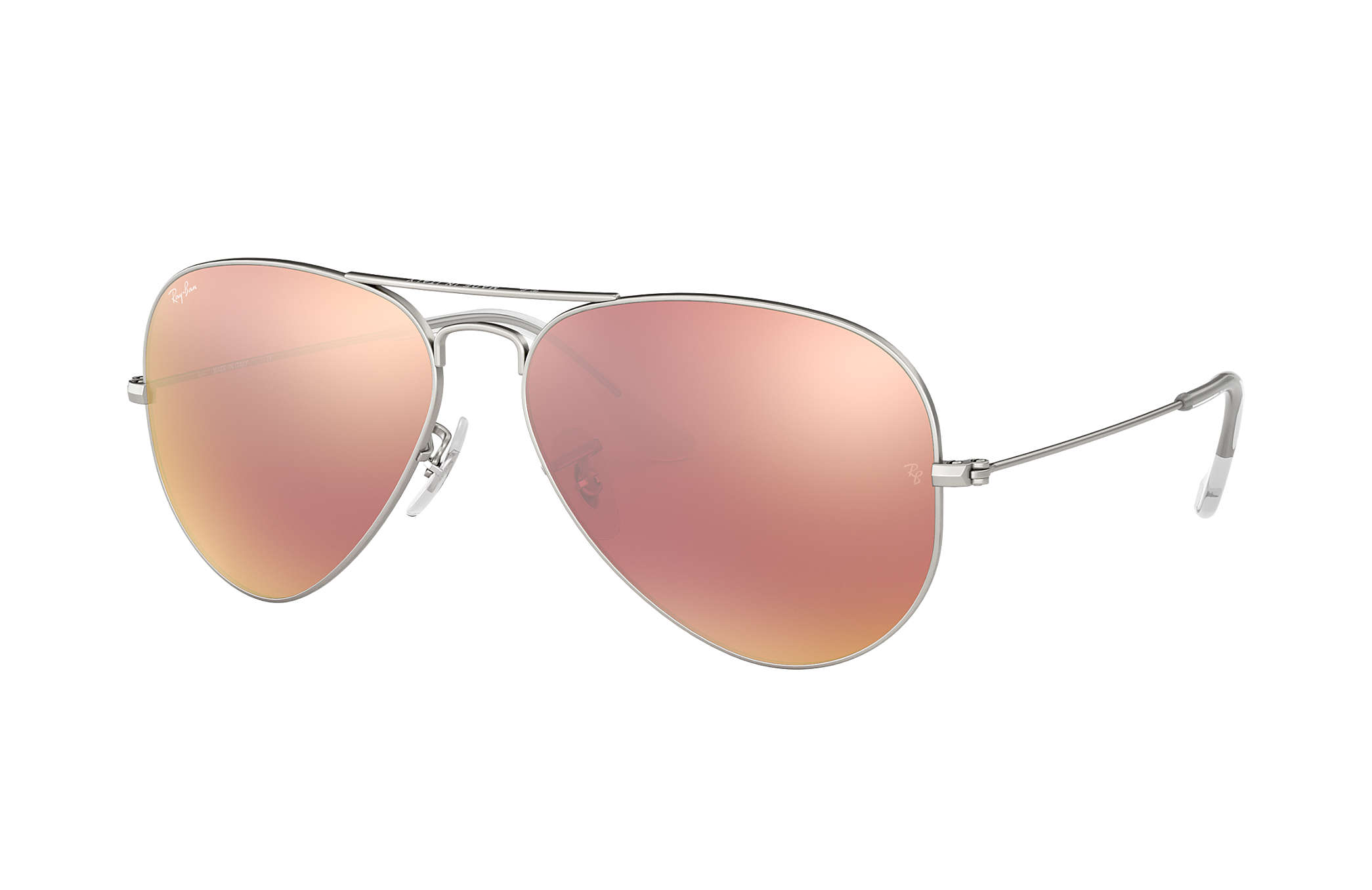 9540c5f25f2 Ray-Ban Aviator Flash Lenses RB3025 Silver - Metal - Copper Lenses ...
