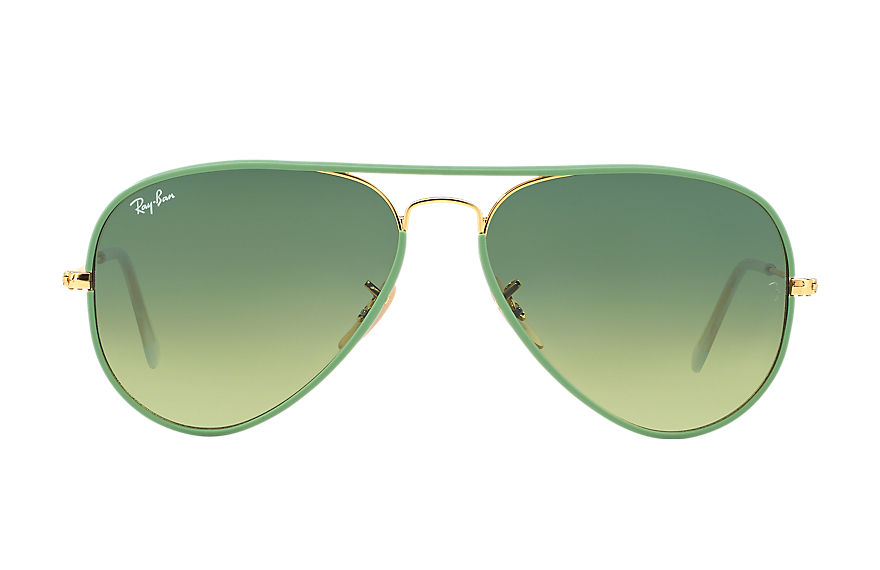 Ray-Ban  sunglasses RB3025JM UNISEX 009 aviator full color 그린 8053672158847
