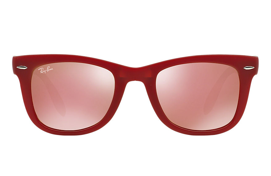 Ray-Ban  sunglasses RB4105 UNISEX 015 wayfarer folding flash lenses red 8053672158861