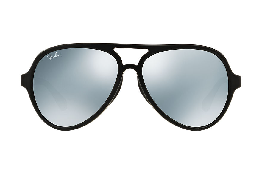 Ray-Ban Sunglasses CATS 5000 Negro with Silver Flash lens