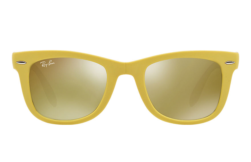 Ray-Ban  sunglasses RB4105 UNISEX 017 wayfarer folding flash lenses yellow 8053672162592