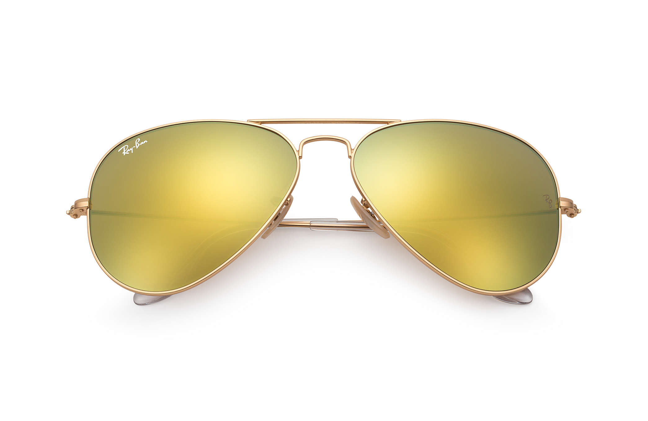 2e42a8037cead Ray-Ban Aviator Flash Lenses RB3025 Gold - Metal - Yellow Lenses ...