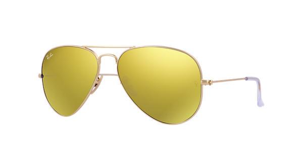 e603d2b7f5d Ray-Ban Aviator Flash Lenses RB3025 Gold - Metal - Yellow Lenses -  0RB3025112 9358