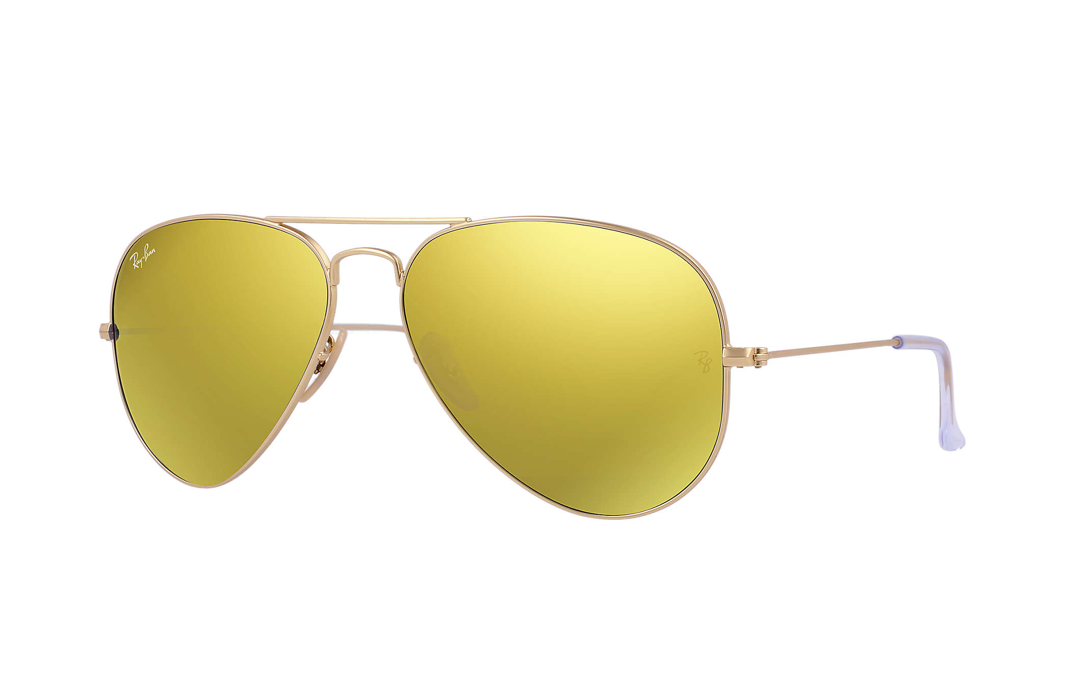 41fe697b66 Ray-Ban Aviator Flash Lenses RB3025 Gold - Metal - Yellow Lenses ...