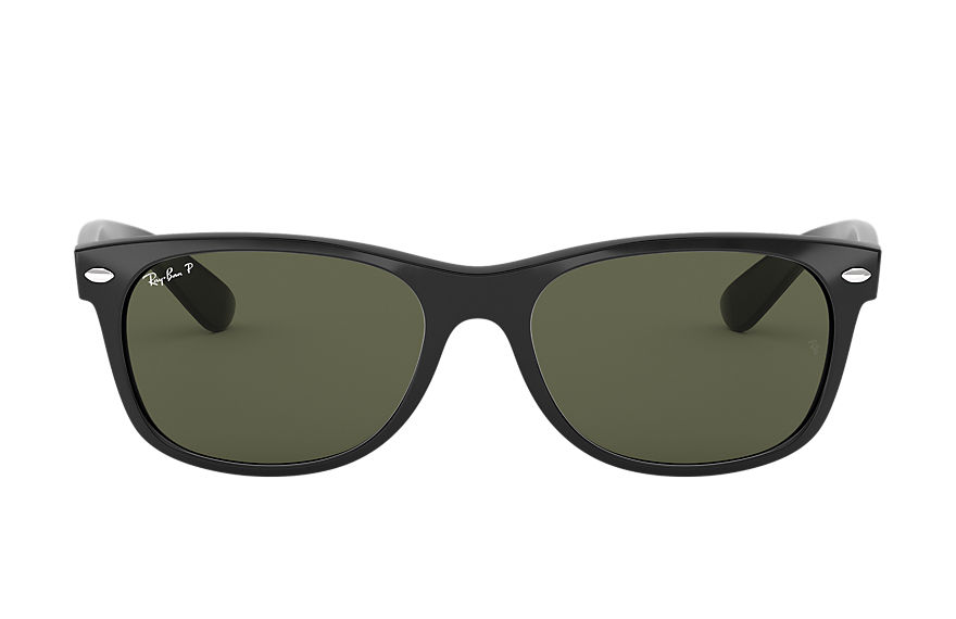 Ray-Ban Sunglasses NEW WAYFARER CLASSIC LOW BRIDGE FIT Black with Green Classic G-15 lens
