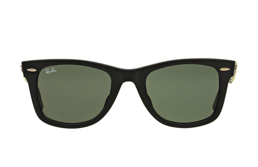 Ray-Ban Sunglasses ORIGINAL WAYFARER CAMOUFLAGE Black with Green Classic G-15 lens
