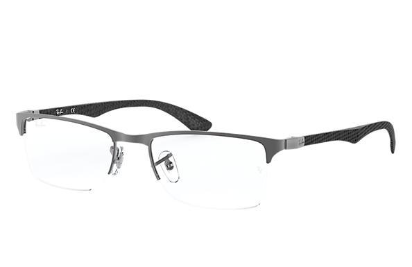e3725fc2a27 Ray-Ban prescription glasses RB8413 Gunmetal - Carbon Fibre ...