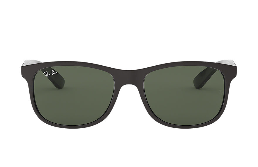 Ray-Ban Sunglasses ANDY Black with Green Classic lens