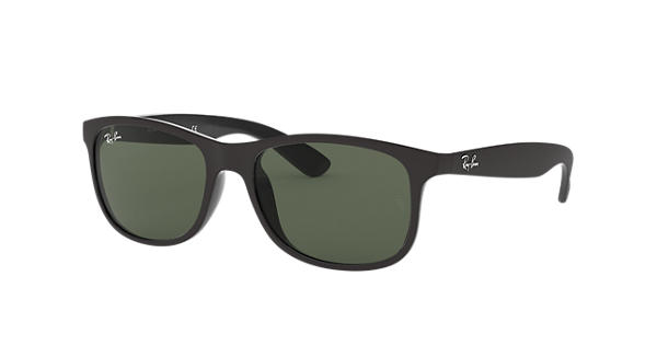 e3c8663c552 Ray-Ban Andy RB4202 Black - Nylon - Green Lenses - 0RB420260697155 ...