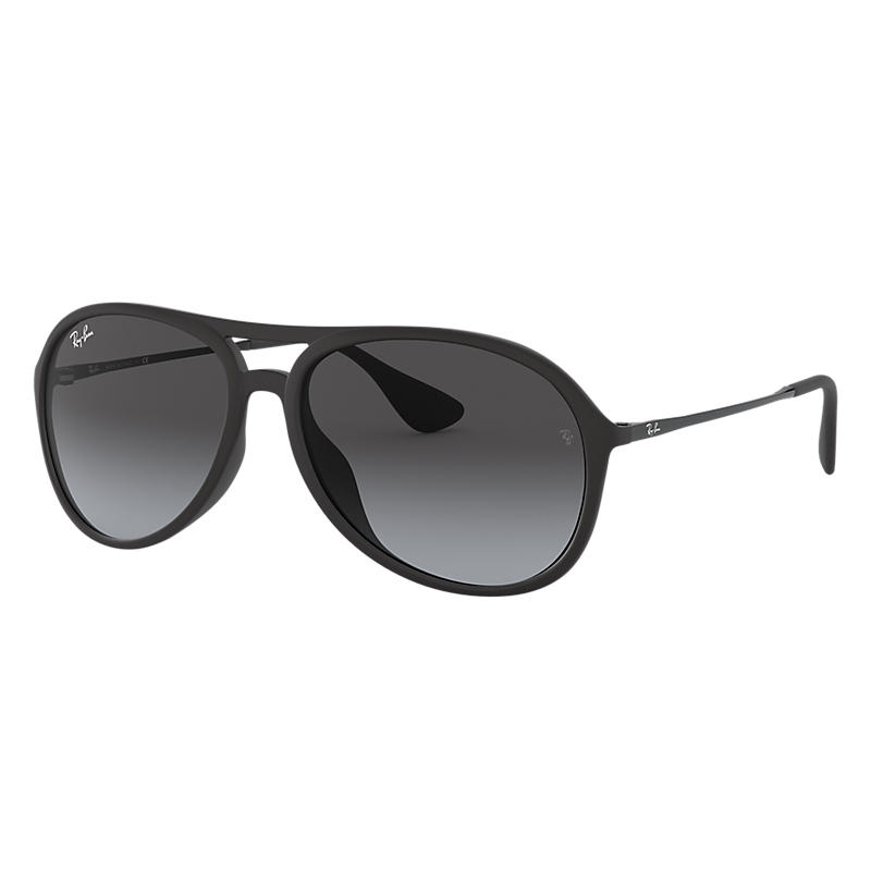 Image of Ray-Ban Alex Black Sunglasses, Gray Lenses - Rb4201