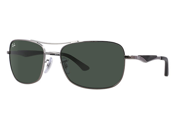 880d6afd89 Ray-Ban RB3515 Gunmetal - Metal - Green Lenses - 0RB3515004 7161 ...