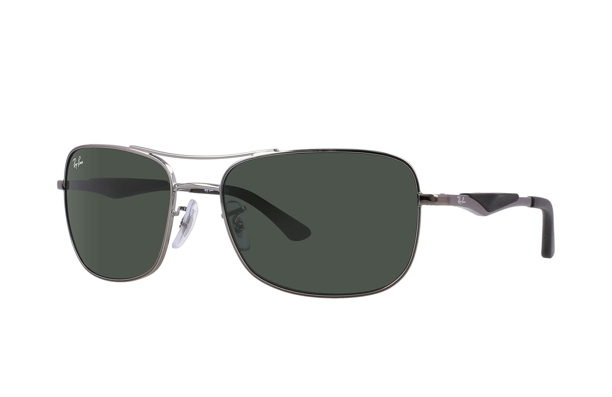 40338c460d9f Ray-Ban RB3515 Gunmetal - Metal - Green Lenses - 0RB3515004 7161 ...