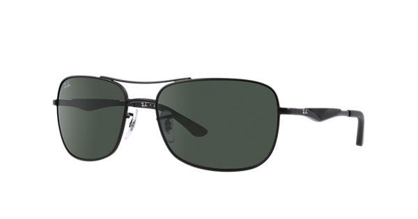 174a4322a30 Ray-Ban RB3515 Black - Metal - Green Lenses - 0RB3515006 7161