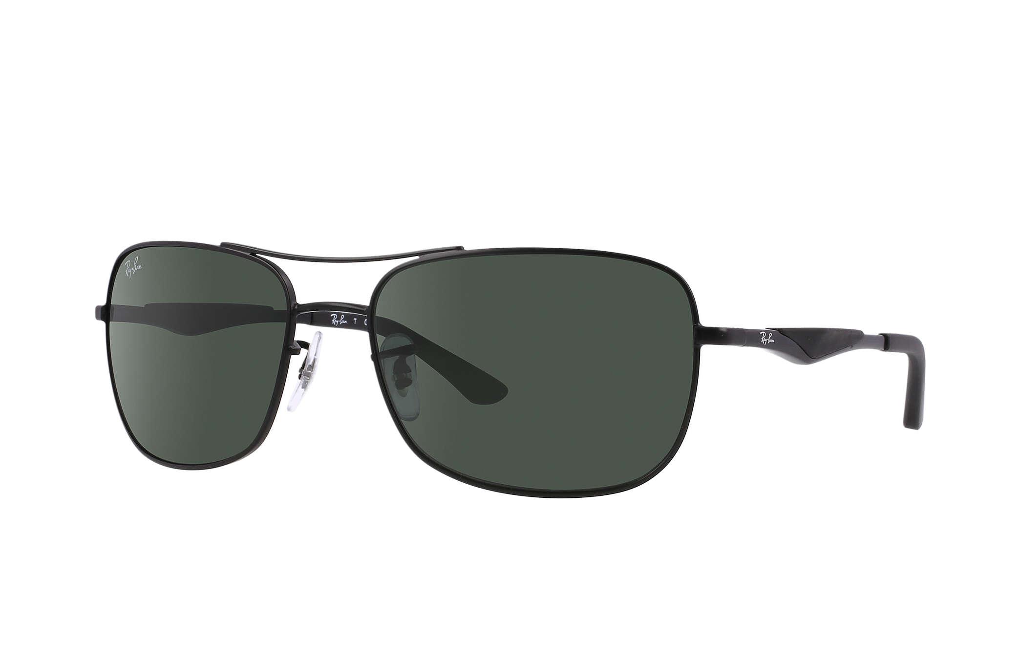 3fe08e2167b9 Ray-Ban RB3515 Black - Metal - Green Lenses - 0RB3515006 7161