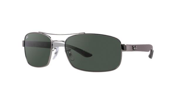 b9e15785d7c Ray-Ban RB8316 Gunmetal - Carbon Fibre - Green Lenses - 0RB831600462 ...