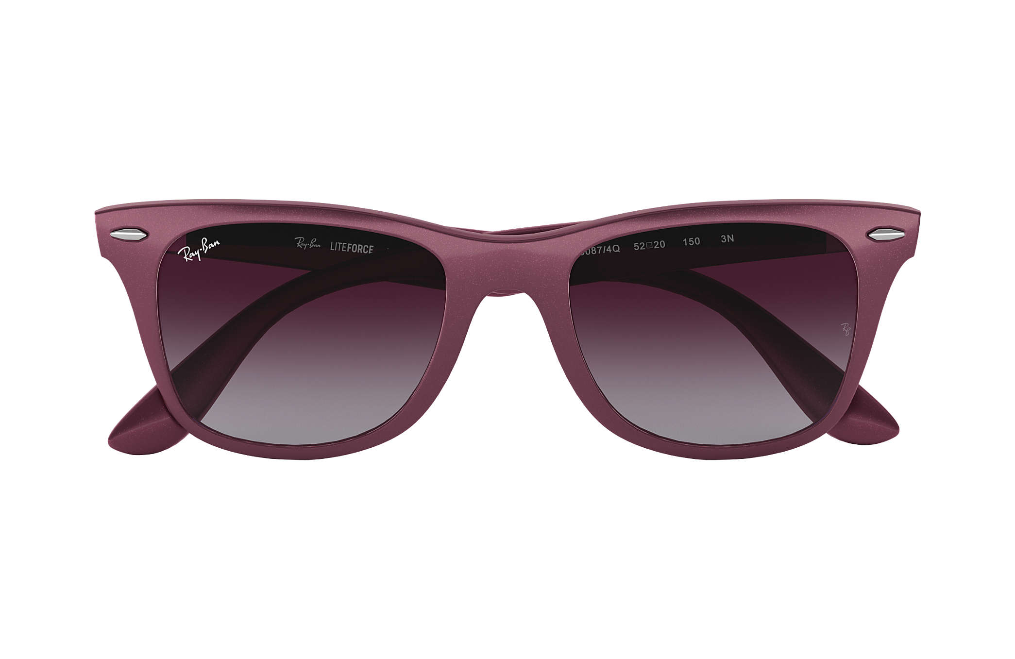 90bb552ad0 usa ray ban wayfarer lite force rb4195 purple red sunglasses 8de0b 5778f