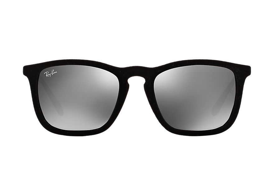 Ray-Ban Chris Velvet Black Velvet with Grey Mirror lens