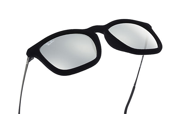Ray-Ban Chris Velvet RB4187 Black Velvet - Nylon - Grey Lenses ... 920086d297