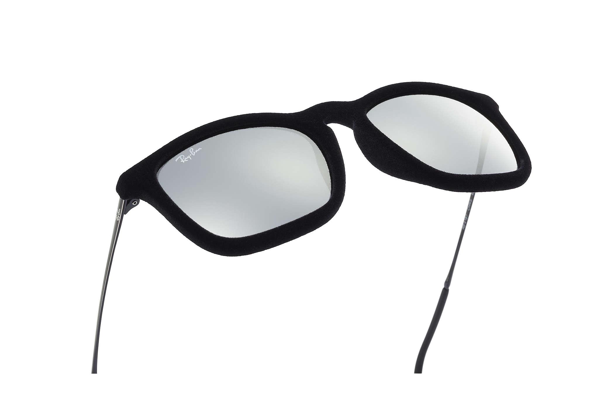 5642b922fe4fe0 Ray-Ban Chris Velvet RB4187 Black Velvet - Nylon - Grey Lenses ...