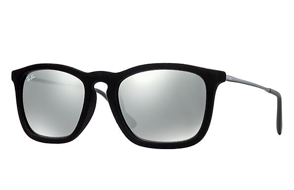 a9d8301866 Ray-Ban Chris Velvet RB4187 Black Velvet - Nylon - Grey Lenses ...
