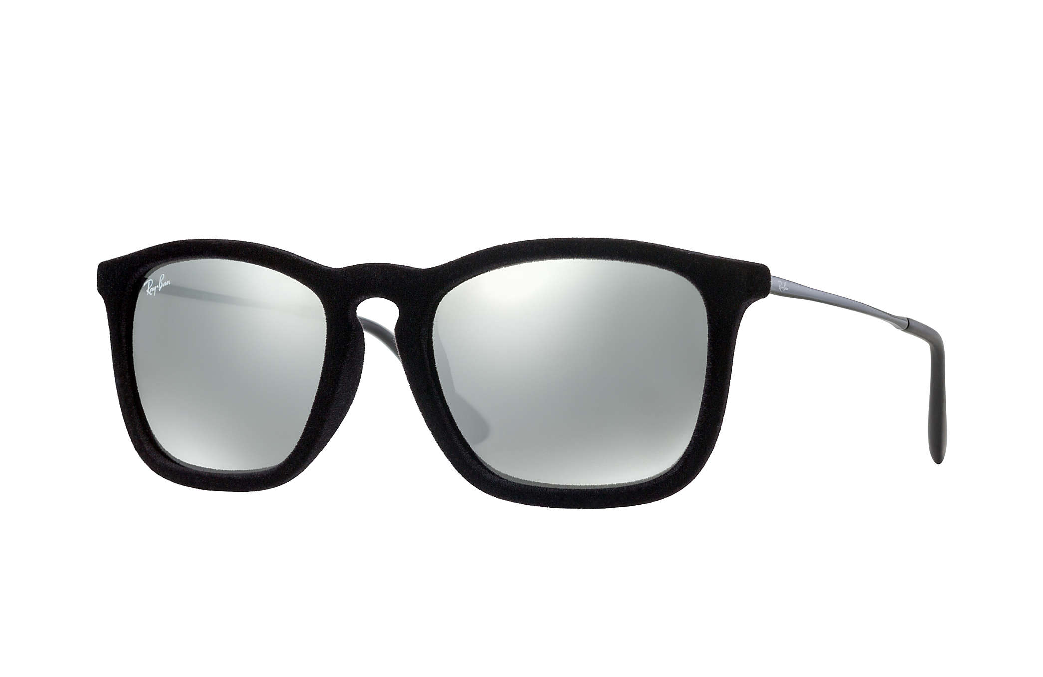 4d5b01943e Ray-Ban Chris Velvet RB4187 Black Velvet - Nylon - Grey Lenses ...