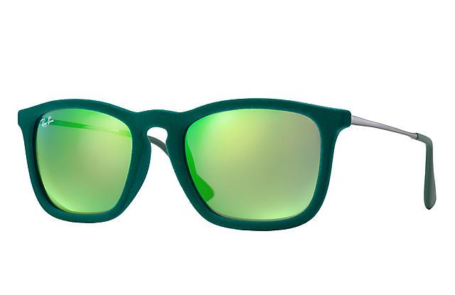 39e75c950b Ray-Ban Chris Velvet RB4187 Green Velvet - Nylon - Green Lenses -  0RB418760823R54