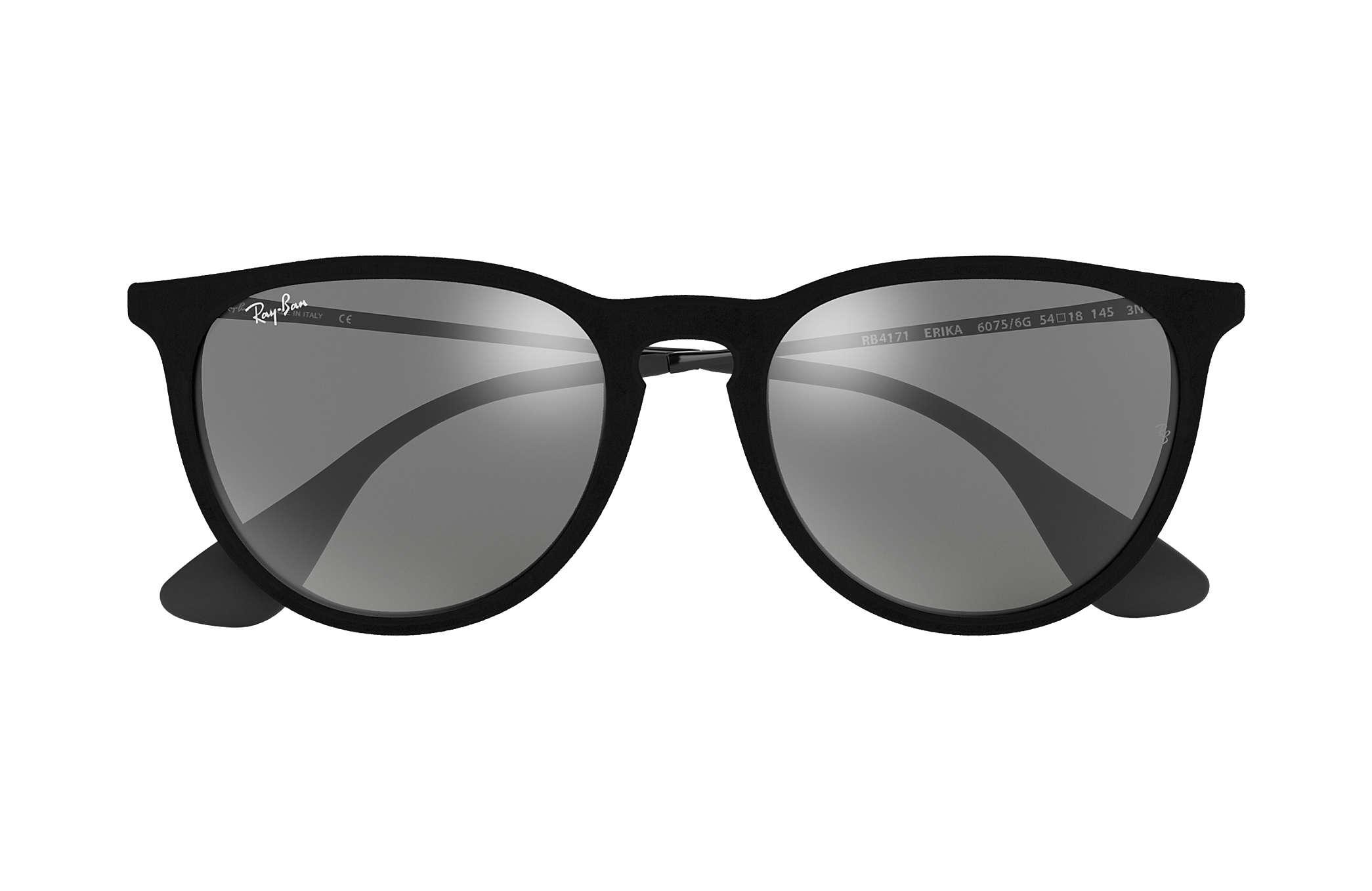 4999cd12cc Ray-Ban Erika Velvet RB4171 Black Velvet - Nylon - Grey Lenses ...