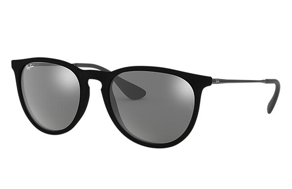 fb551328fe131 Ray-Ban Erika Velvet RB4171 Black Velvet - Nylon - Grey Lenses ...