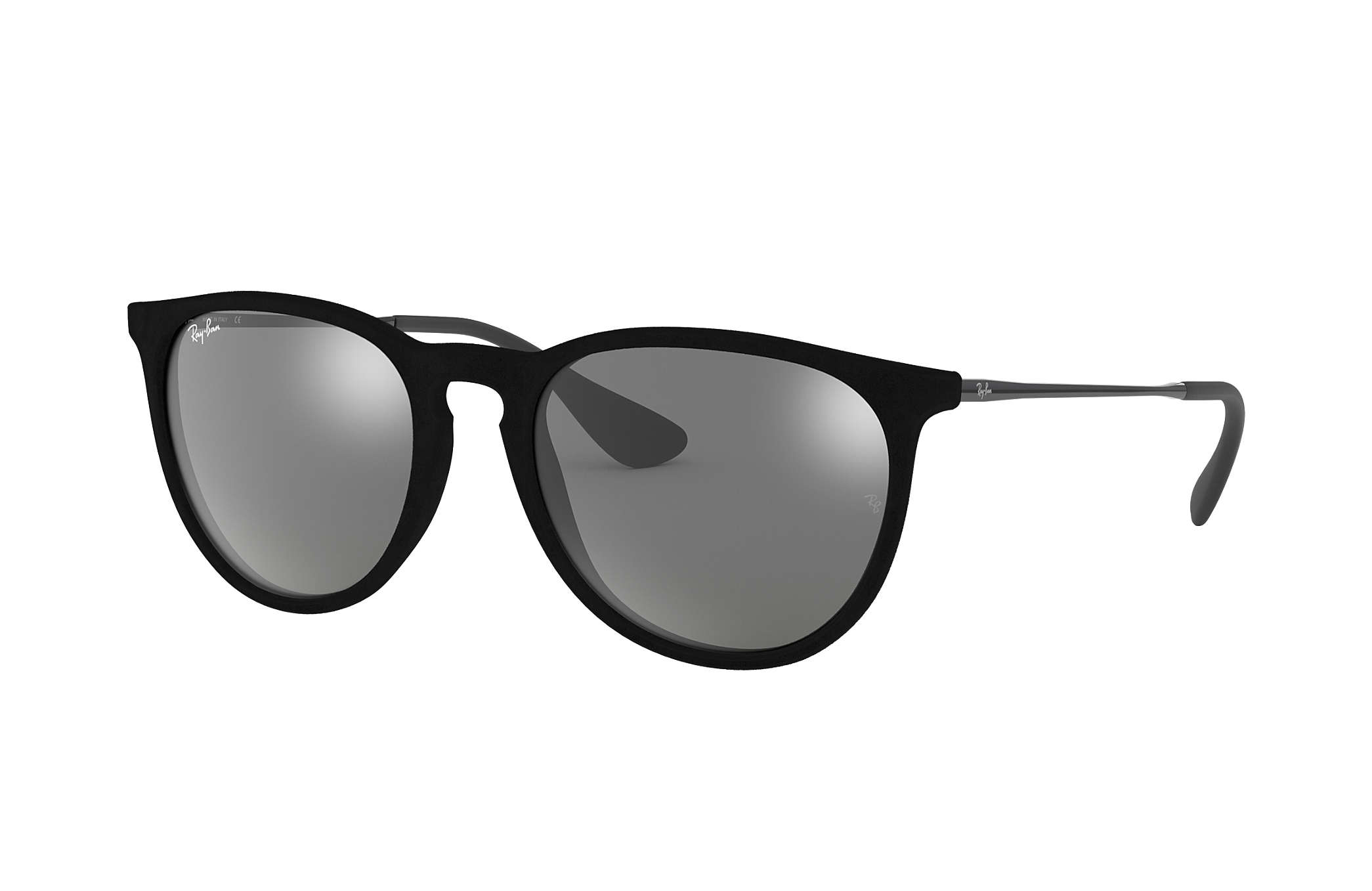 Ray-Ban Erika Velvet RB4171 Black Velvet - Nylon - Grey Lenses ... e8771e2aea