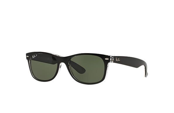 Ray-Ban Sunglasses NEW WAYFARER CLASSIC Black with Green Classic G-15 lens