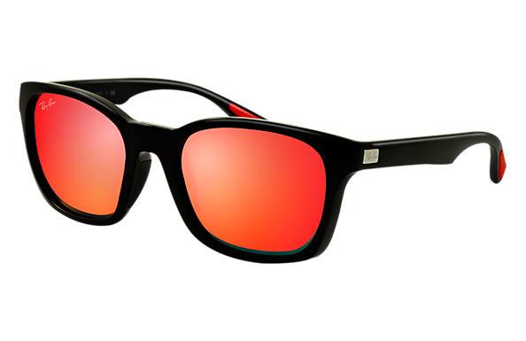 lentes tipo ray ban rojos