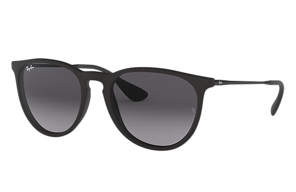 Ray-Ban Sunglasses ERIKA CLASSIC LOW BRIDGE FIT Black with Grey Gradient lens