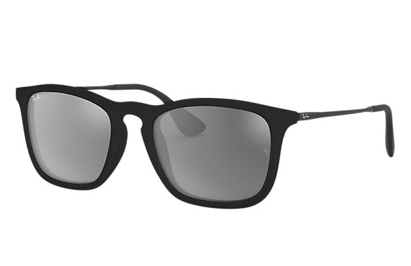 Ray-Ban Chris Velvet RB4187F Black Velvet - Nylon - Grey Lenses ... a8dd2c9dab