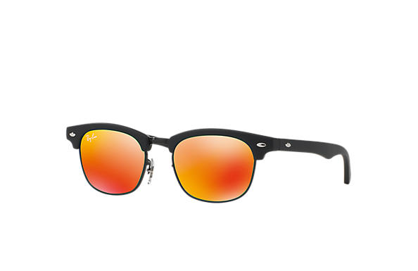 Ray-Ban Sunglasses CLUBMASTER JUNIOR Black with Red Mirror lens