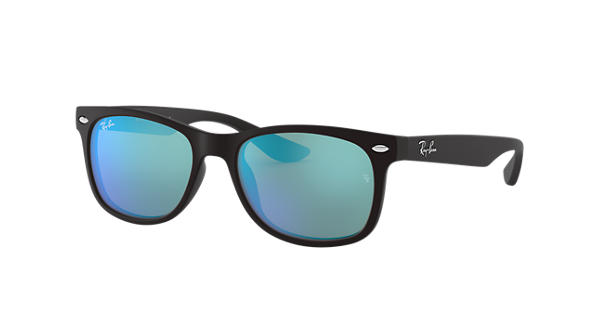 5c679514767 Ray-Ban New Wayfarer Junior RB9052S Black - Nylon - Blue Lenses -  0RJ9052S100S5547