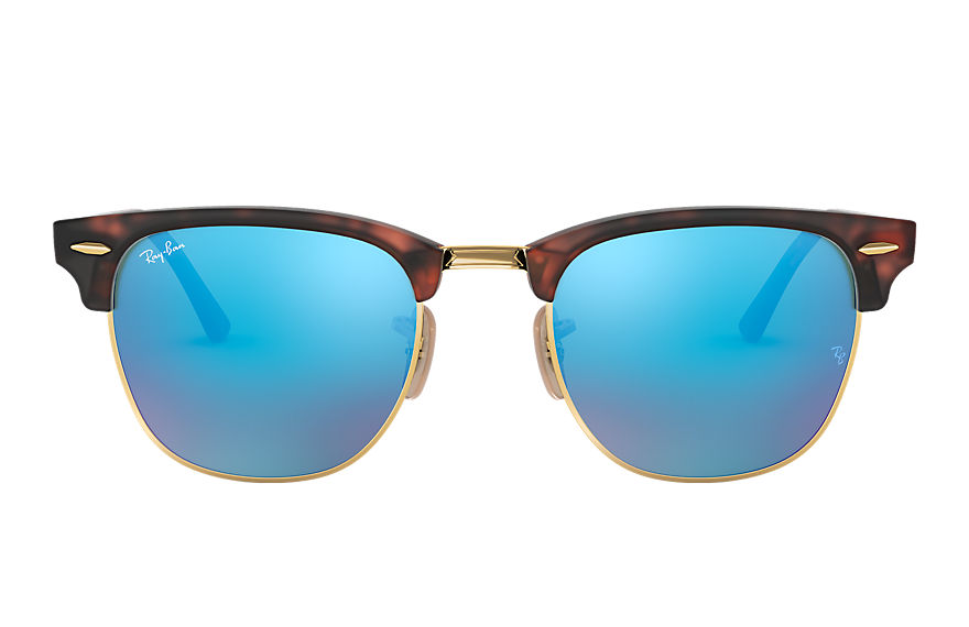 Ray-Ban Sunglasses CLUBMASTER FLASH LENSES Tortoise with Blue Flash lens