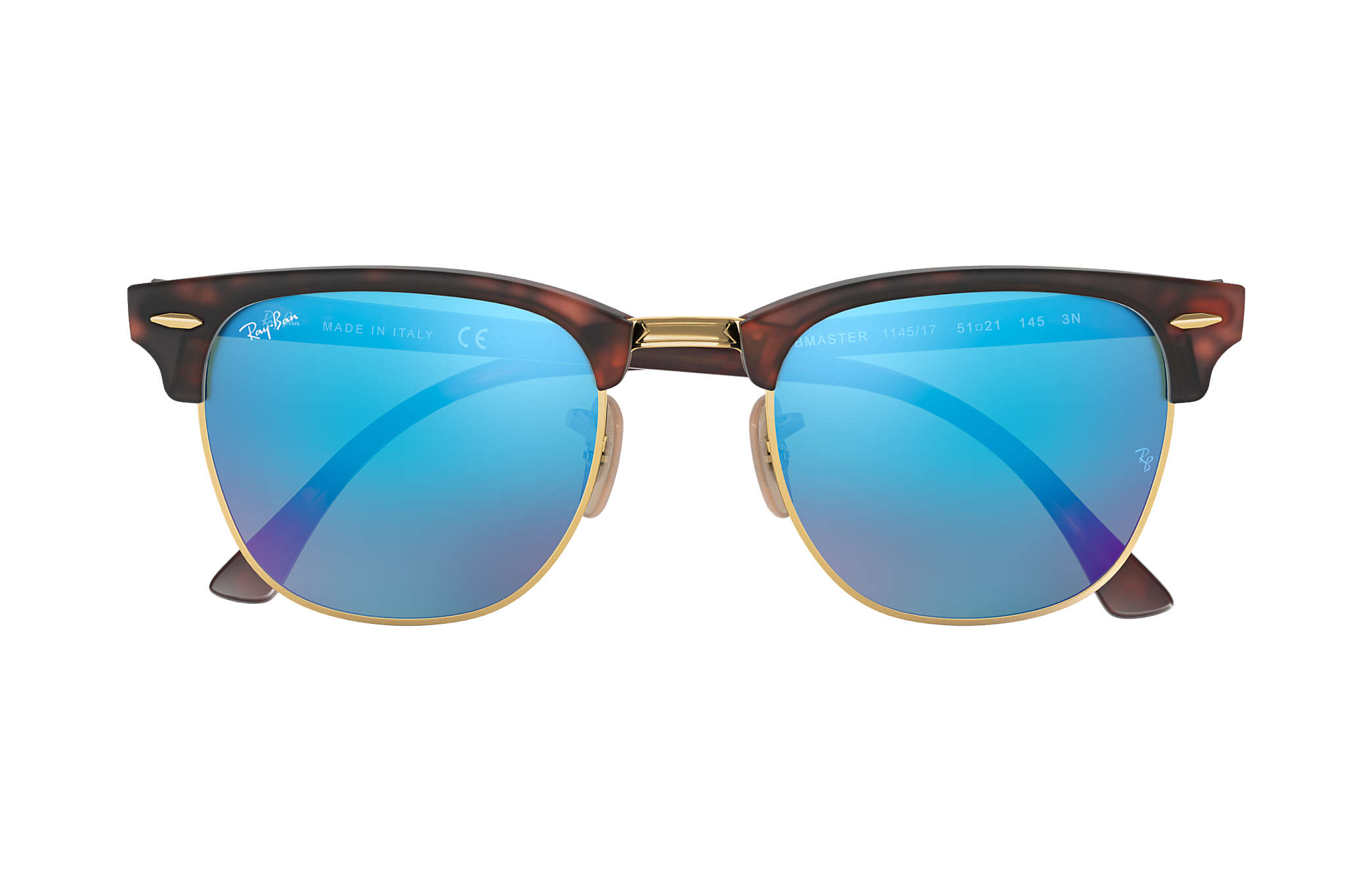 a2e8a74ac Ray-Ban Clubmaster Flash Lenses RB3016 Tortoise - Acetate - Blue ...