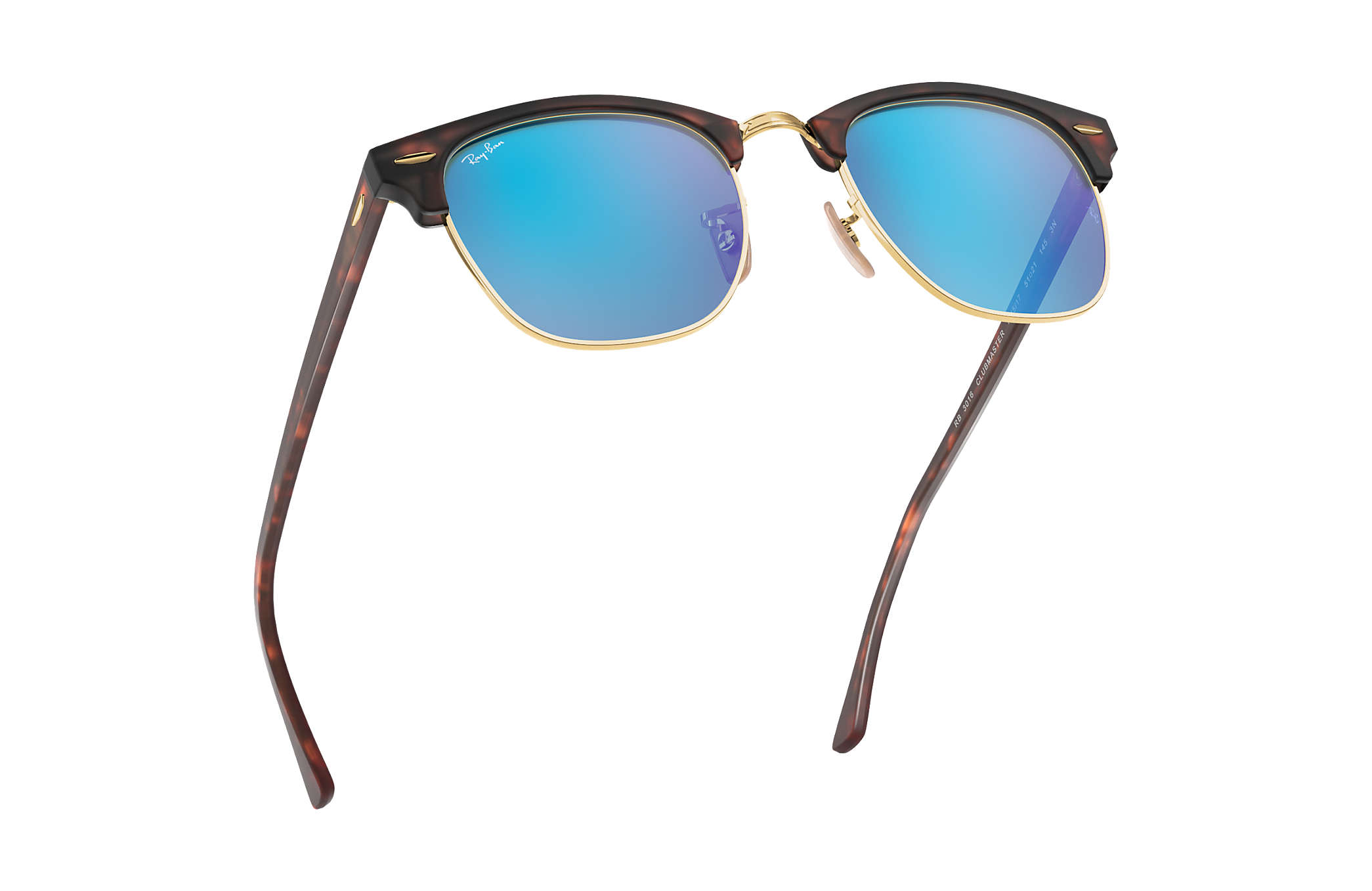 415a31bb285468 Ray-Ban Clubmaster Flash Lenses RB3016 Tortoise - Acetate - Blue ...