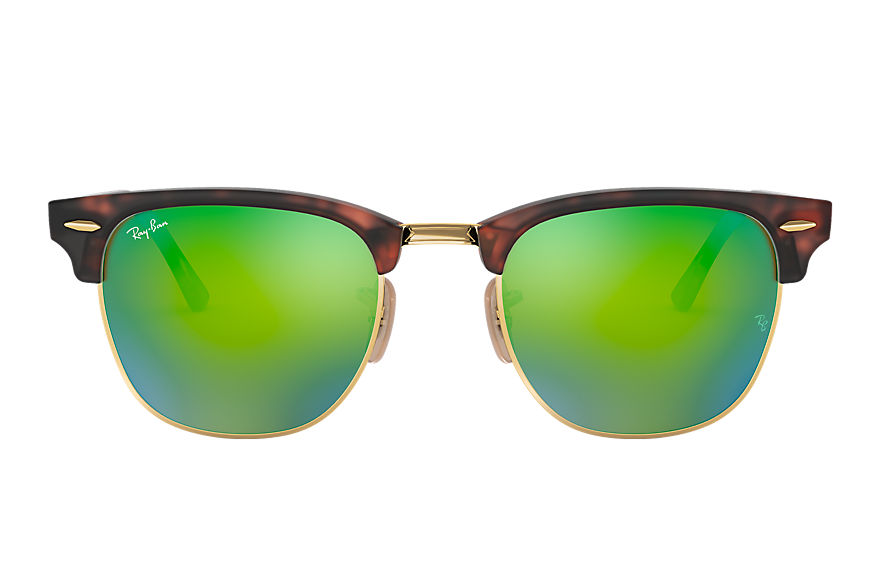 Ray-Ban		 CLUBMASTER FLASH LENSES Tortoise met brillenglas Groen Flash