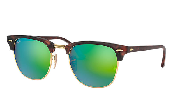 Ray-Ban Gafas-de-sol CLUBMASTER FLASH LENSES Habana con lente Verde Flash