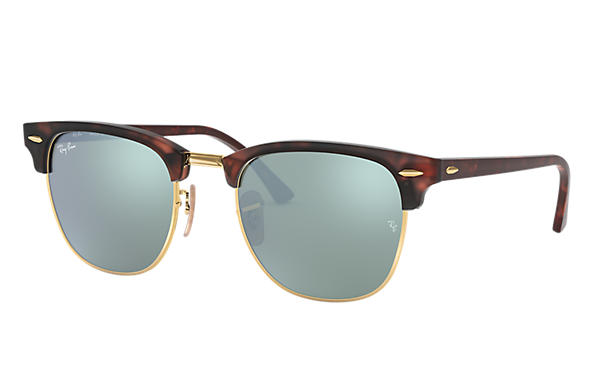 85abbe75f99 Ray-Ban Clubmaster Flash Lenses RB3016 Tortoise - Acetate - Blue ...